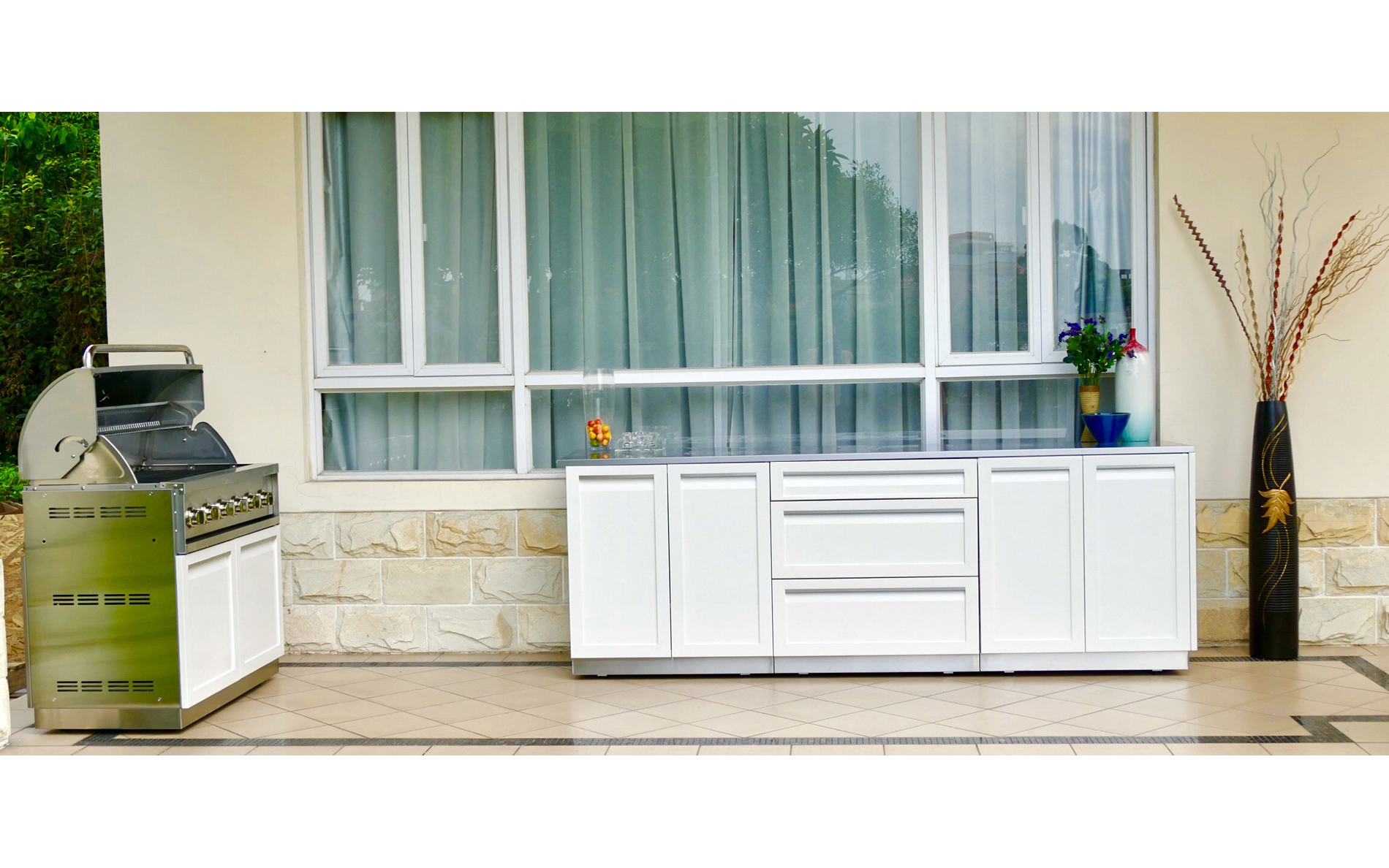 2-Door Outdoor Kitchen Cabinet - W40051 - 4 Life Outdoor Inc.