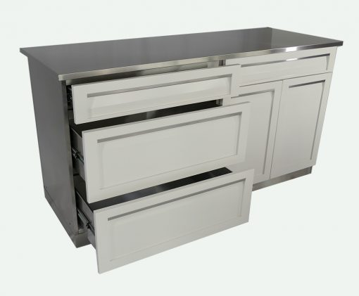 3 Drawer Cabinet, Drawer + 2-door Cabinet 66 stainless countertop