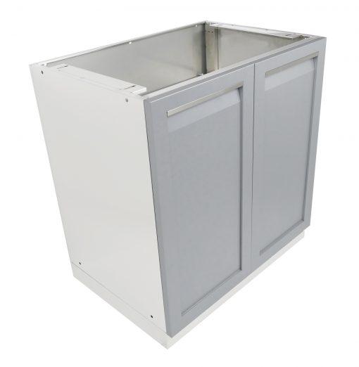 Gray 2-Door Stainless Steel Outdoor Kitchen Cabinet - G40001 6