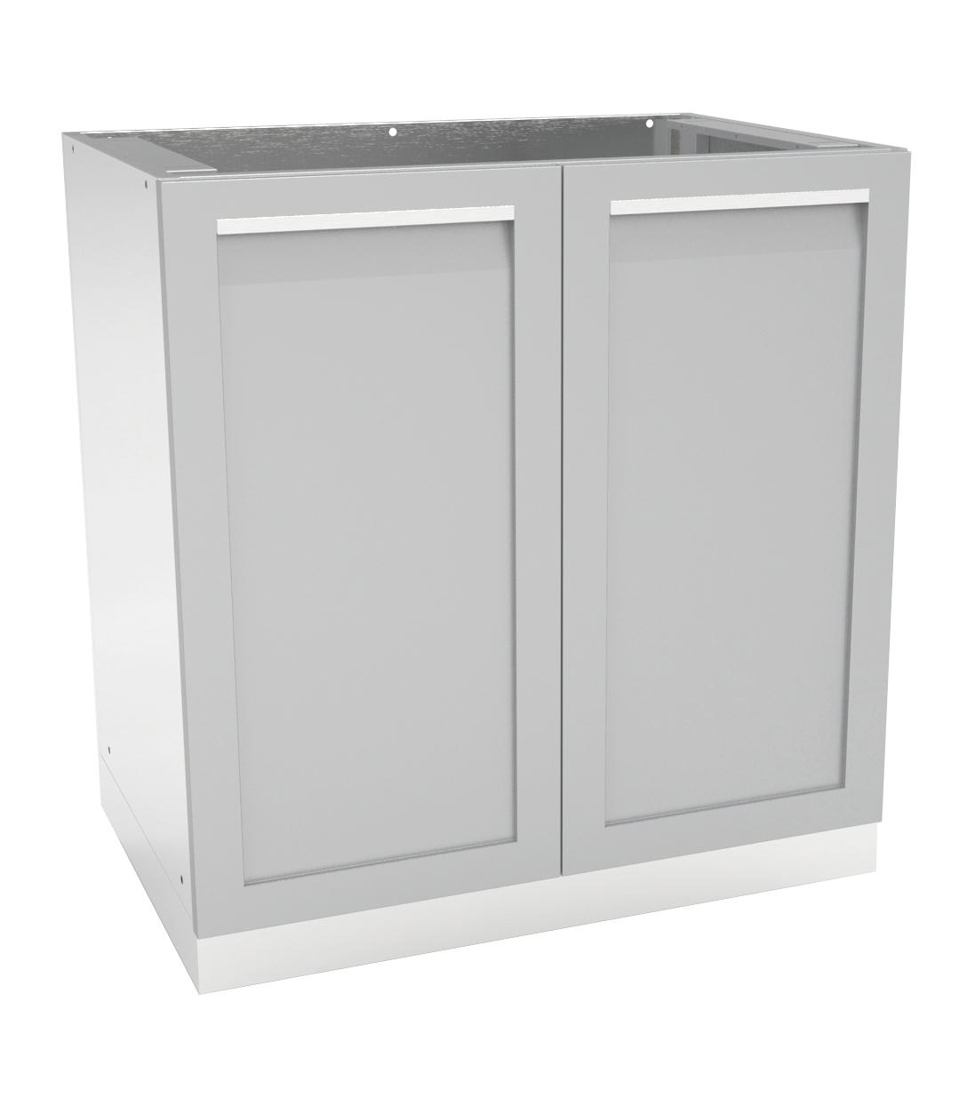 2 door outdoor kitchen cabinet g40001 4 life outdoor inc for Exterior kitchen doors