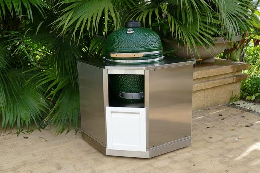 Kamado Cabinet stainless steel white door