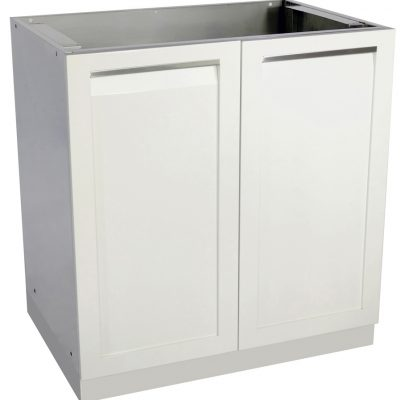 4 Life Outdoor - White stainless steel 2 door Cabinet