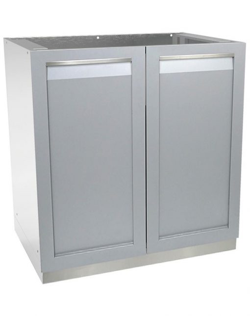 Gray 4 PC: 2 x 2-Door Cabinet, 3-Drawer Cabinet & Stainless Countertop 12