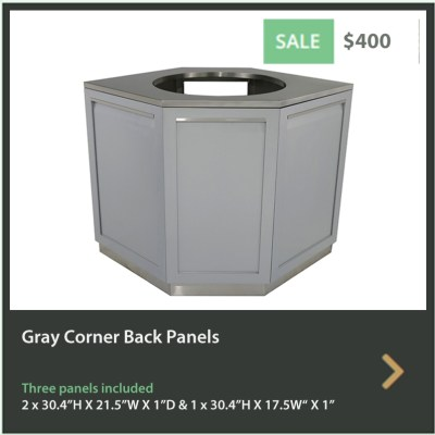 400 4 Life Outdoor Gray Corner Back Panels