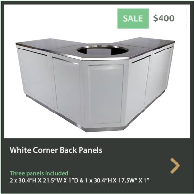 400 4 Life Outdoor White Corner Back Panels