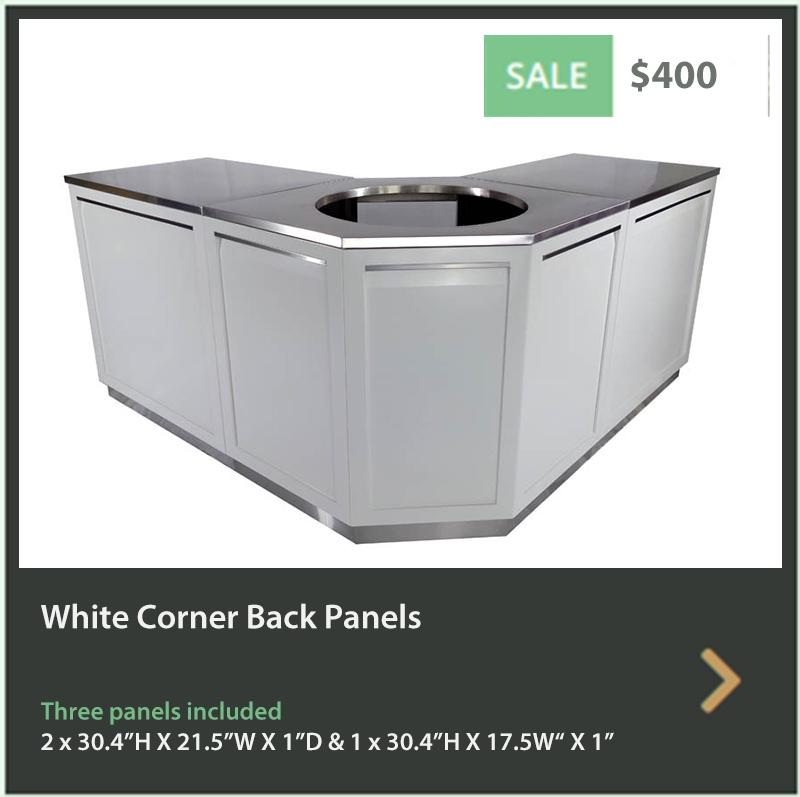 400 4 Life Outdoor White Corner Back Panels