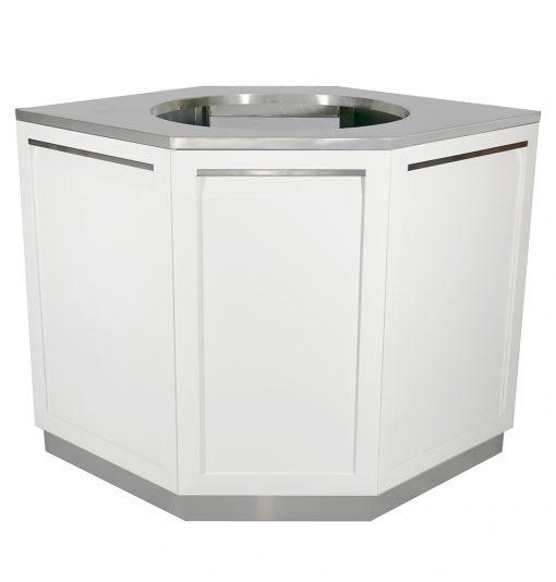 Decorative Corner Back Panels in White - W40098 2