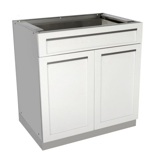 White Drawer Plus 2-Door Stainless Steel Outdoor Kitchen Cabinet - W40052 8