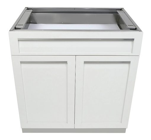 White Drawer Plus 2-Door Stainless Steel Outdoor Kitchen Cabinet - W40052 9