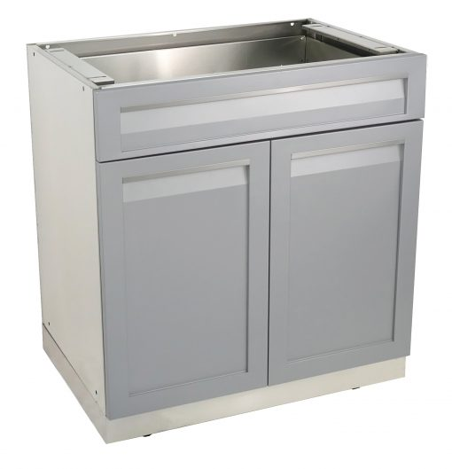 Gray Drawer Plus 2-Door Stainless Steel Outdoor Kitchen Cabinet - G40002 6