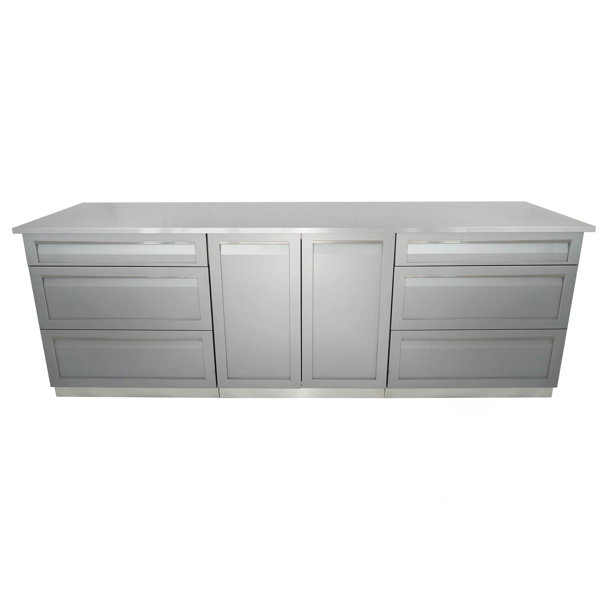 4-Piece Outdoor Kitchen Cabinet Set – G40025