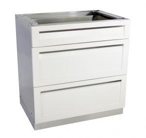 3 Drawer Outdoor Kitchen Cabinet