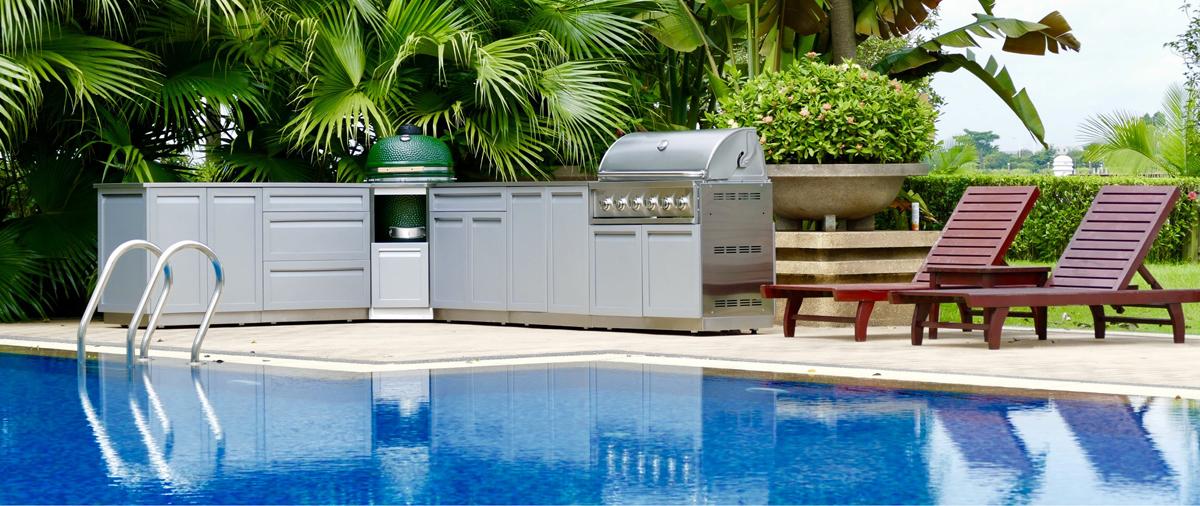 Full Kitchen Set | 4 Piece Outdoor Kitchen Cabinet Set G40025 4 Life Outdoor Inc