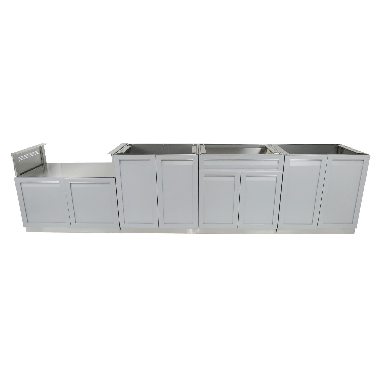 4 PC outdoor kitchen cabinet set