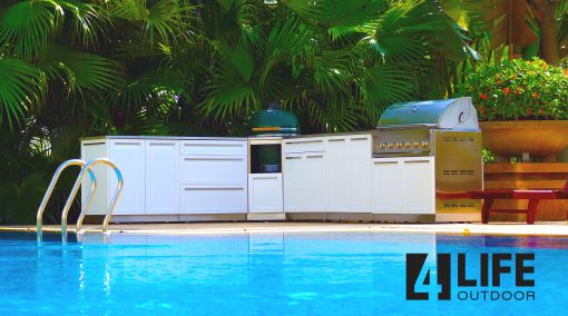 White 2-Door Stainless Steel Outdoor Kitchen Cabinet - W40051 Promo 1