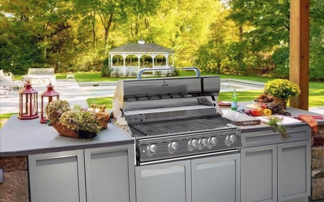 An outdoor kitchen will become the heart of the home every summer