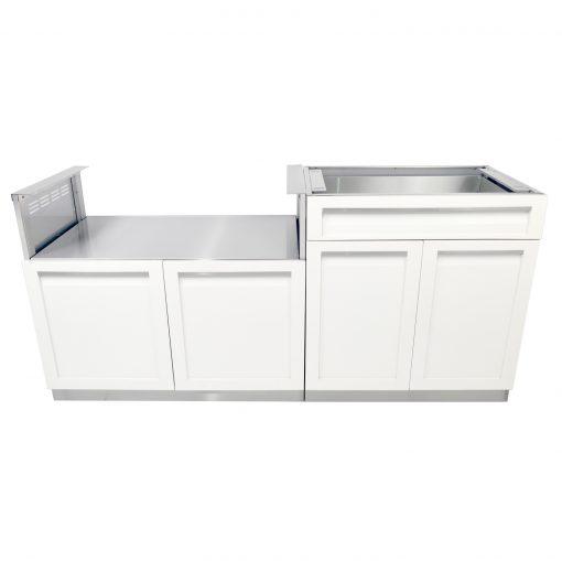 4 Life outdoor kitchen set White Combo BBQ 1500