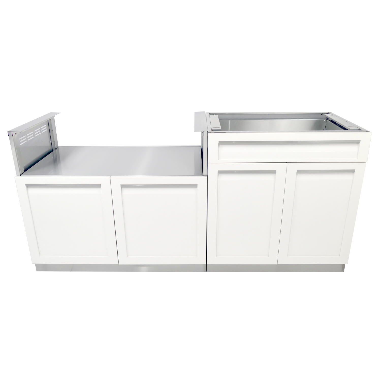 4 Life outdoor kitchen set White Combo BBQ 1500