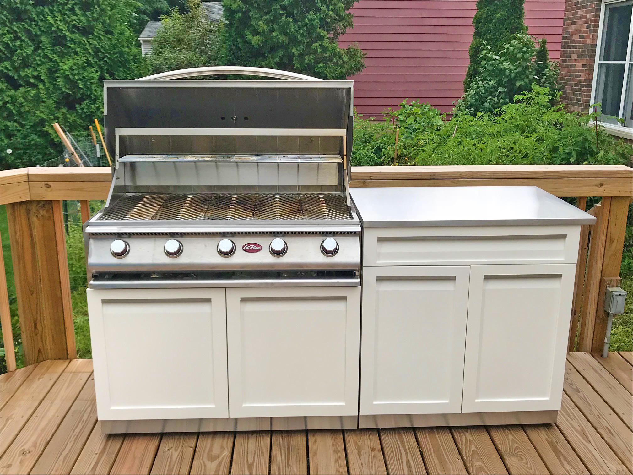 2 Piece Outdoor Kitchen Cabinet Set W40063 4 Life