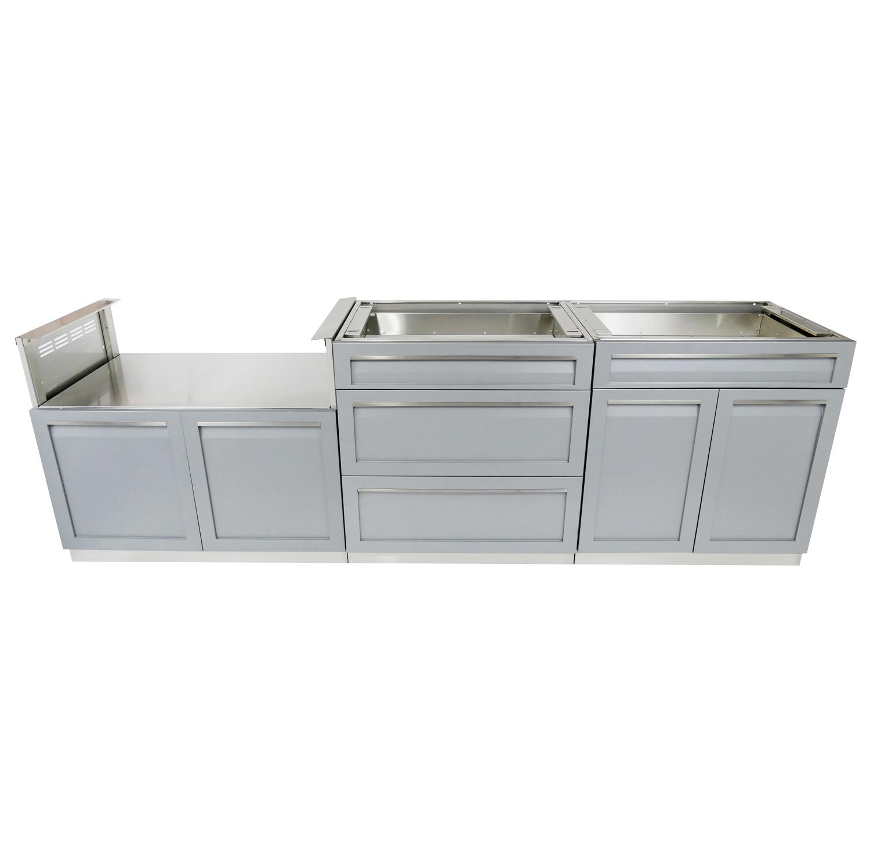 Full Kitchen Cabinet Set: 3-Piece Outdoor Kitchen Cabinet Set