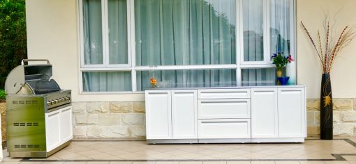 White Drawer Plus 2-Door Stainless Steel Outdoor Kitchen Cabinet - W40052 10
