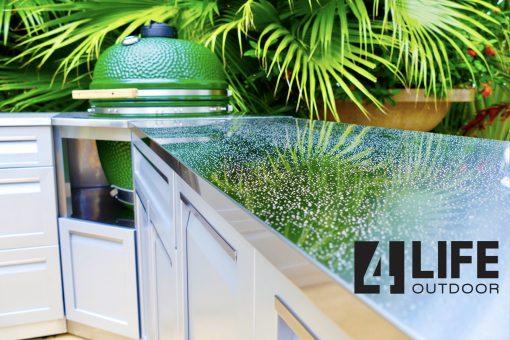 304 Stainless Steel 34X24X1 In. Outdoor Kitchen Countertop 4