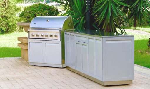 2 PC - Stainless Steel Outdoor Kitchen Decorative Side Panel in Gray 2