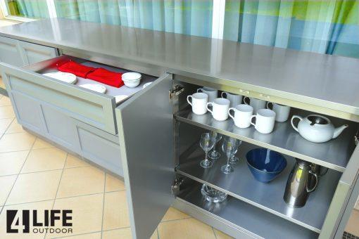 304 Stainless Steel 34X24X1 In. Outdoor Kitchen Countertop 11