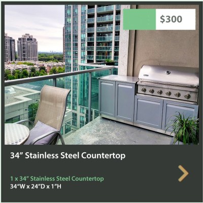 300 4 Life Outdoor 34 Inch Stainless Steel Outoor Kitchen Countertop