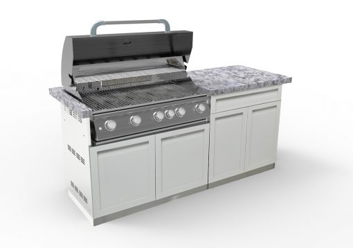 BBQ with drawer 2-door cabinet