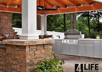 4 Life Outdoor Kitchen white stainless in patio658