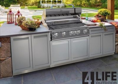 4 Life Outdoor Kitchen white stainless in patio6592