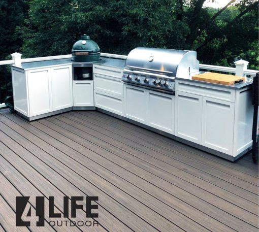 2 PC - Stainless Steel Outdoor Kitchen Decorative Side Panel in White 6