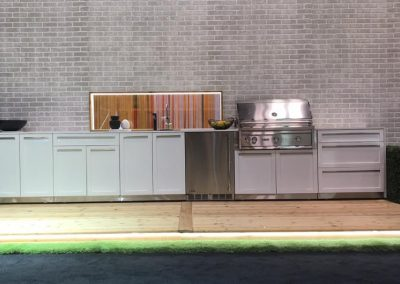 Lynx grill on deck in 4 life outdoor kitchen