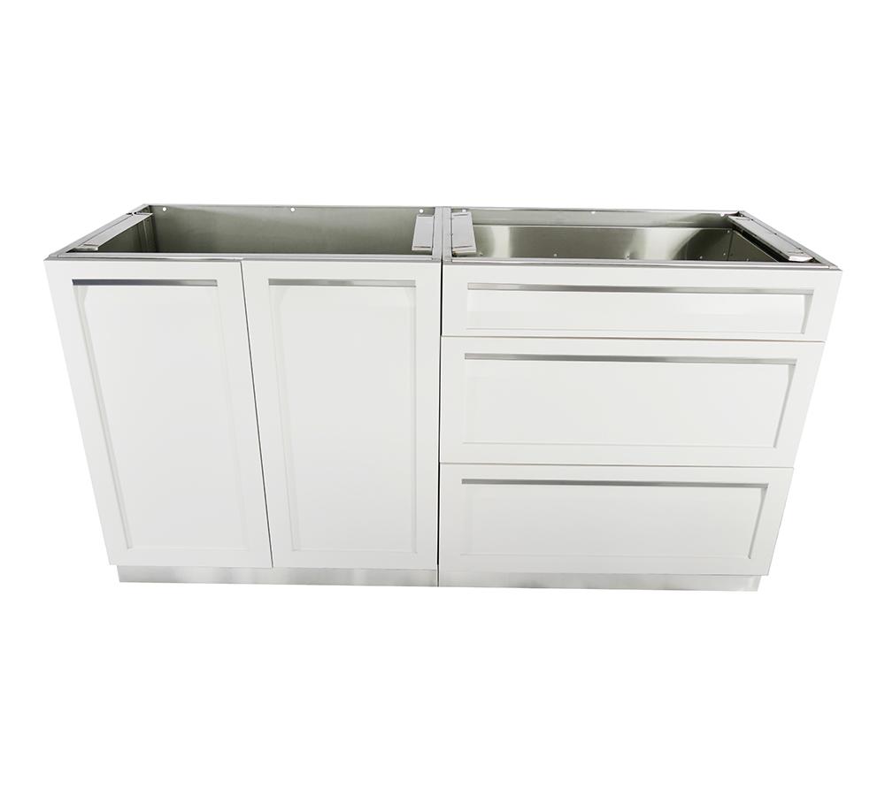 2-Piece Outdoor Kitchen Cabinet Set