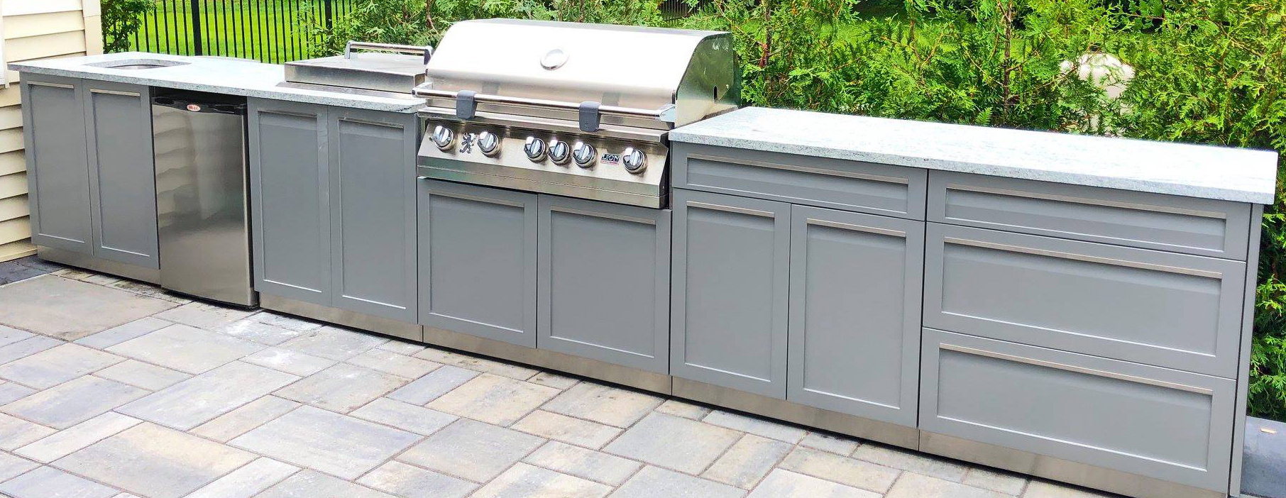 How to clean stainless steel outdoor kitchen cabinets 1