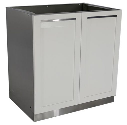 2 door stainless steel outdoor cabinet white powder coat