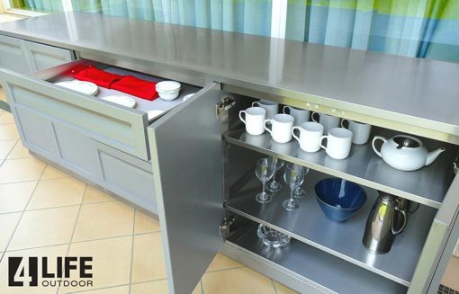 adjustable stainless steel shelves in stainless steel cabinets soft close doors