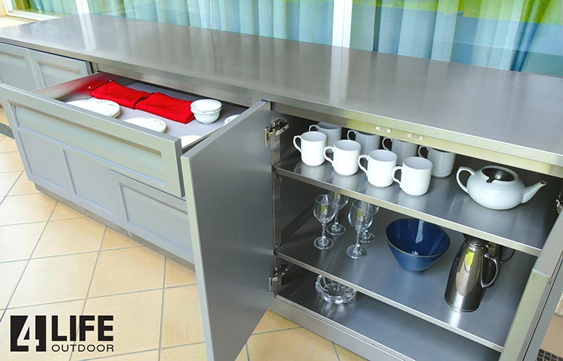Stainless Steel Island Outdoor Kitchens - 5 ft to 15ft long 14