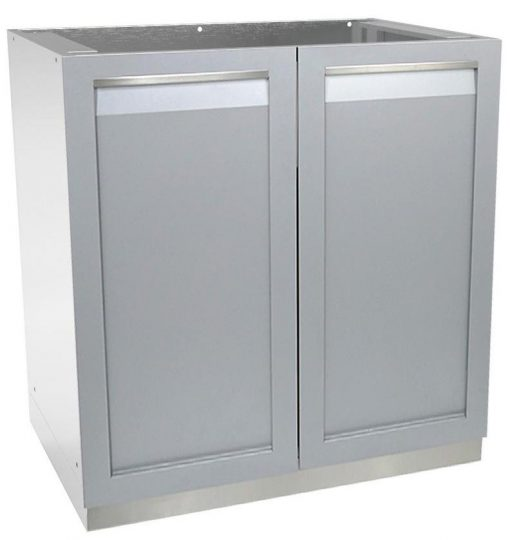 2-door stainless steel outdoor kitchen cabinet
