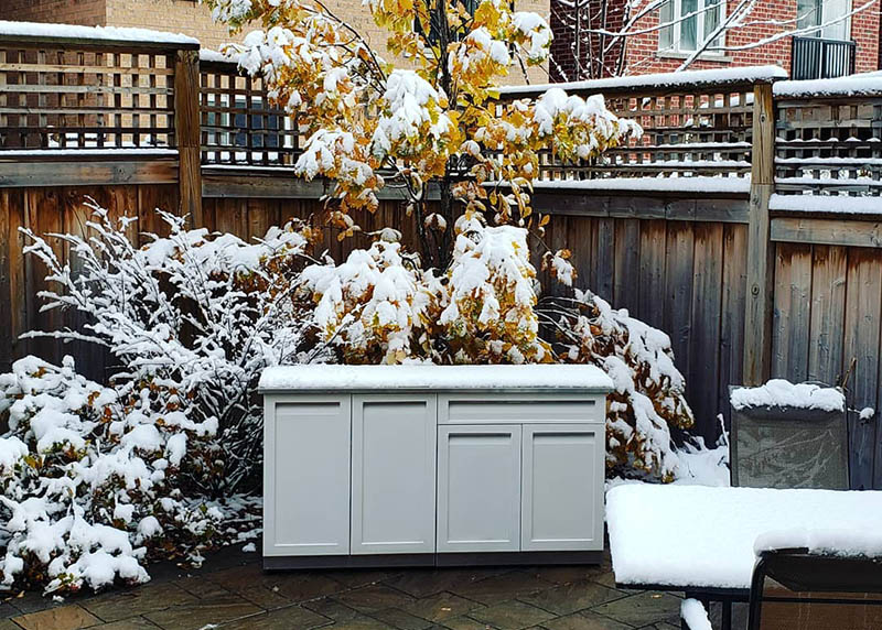 White Stainless Steel Outdoor Kitchen Cabinets 10