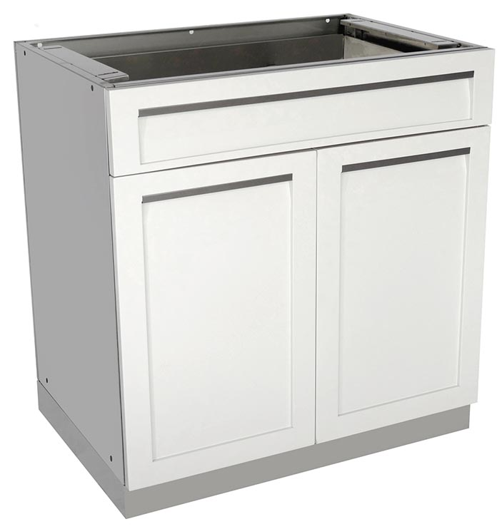 White Modular Stainless Steel Outdoor Kitchen Cabinets - 4 ...