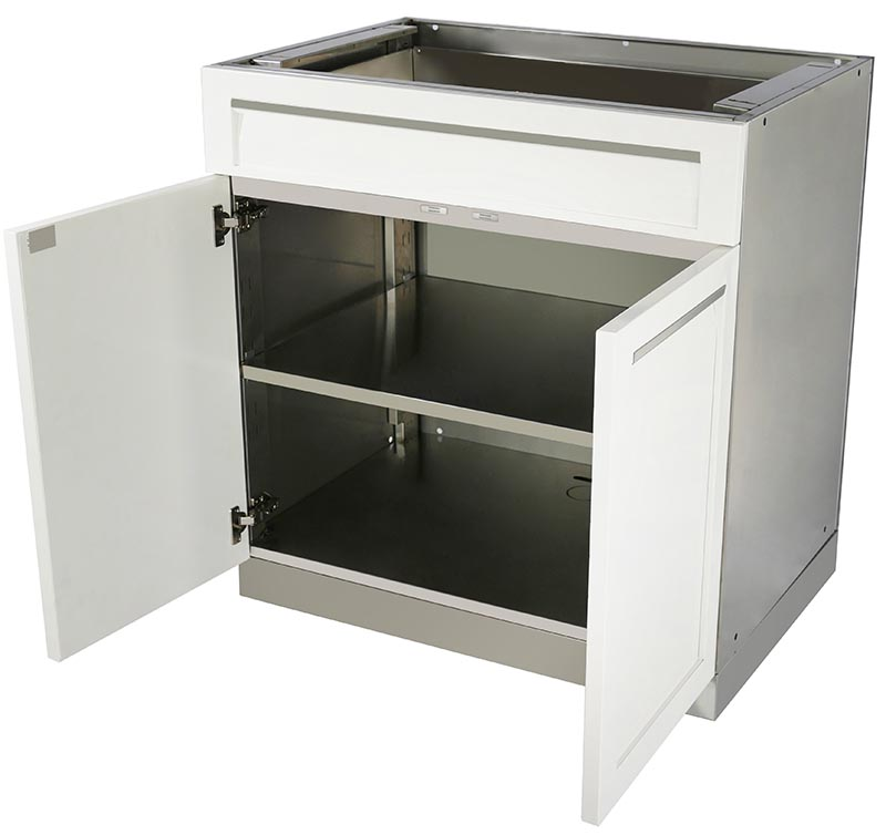 White Stainless Steel Outdoor Kitchen Cabinets 7