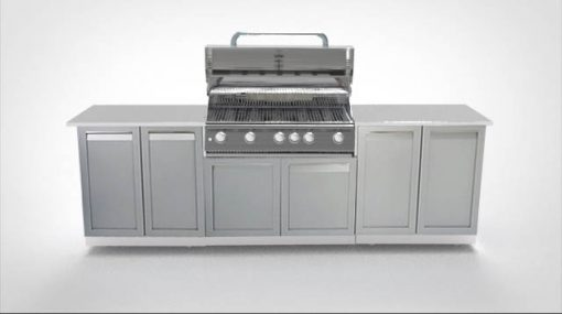 BBQ Island 2-door cabinet with grill cabinet