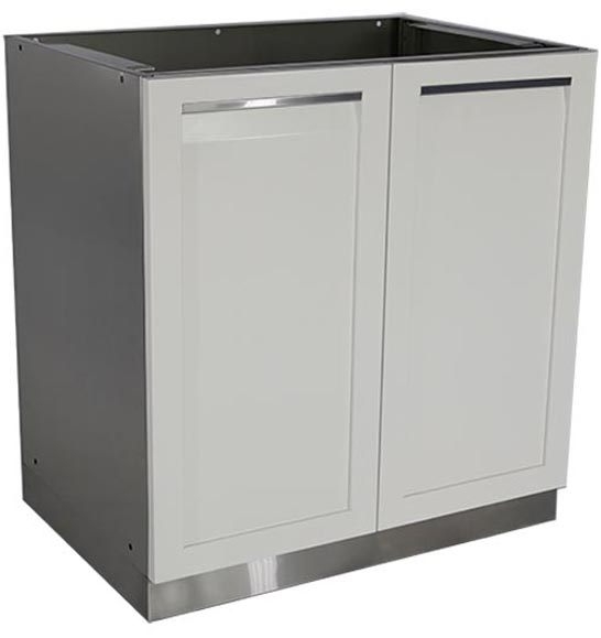 White Stainless Steel Outdoor Kitchen Cabinets 2