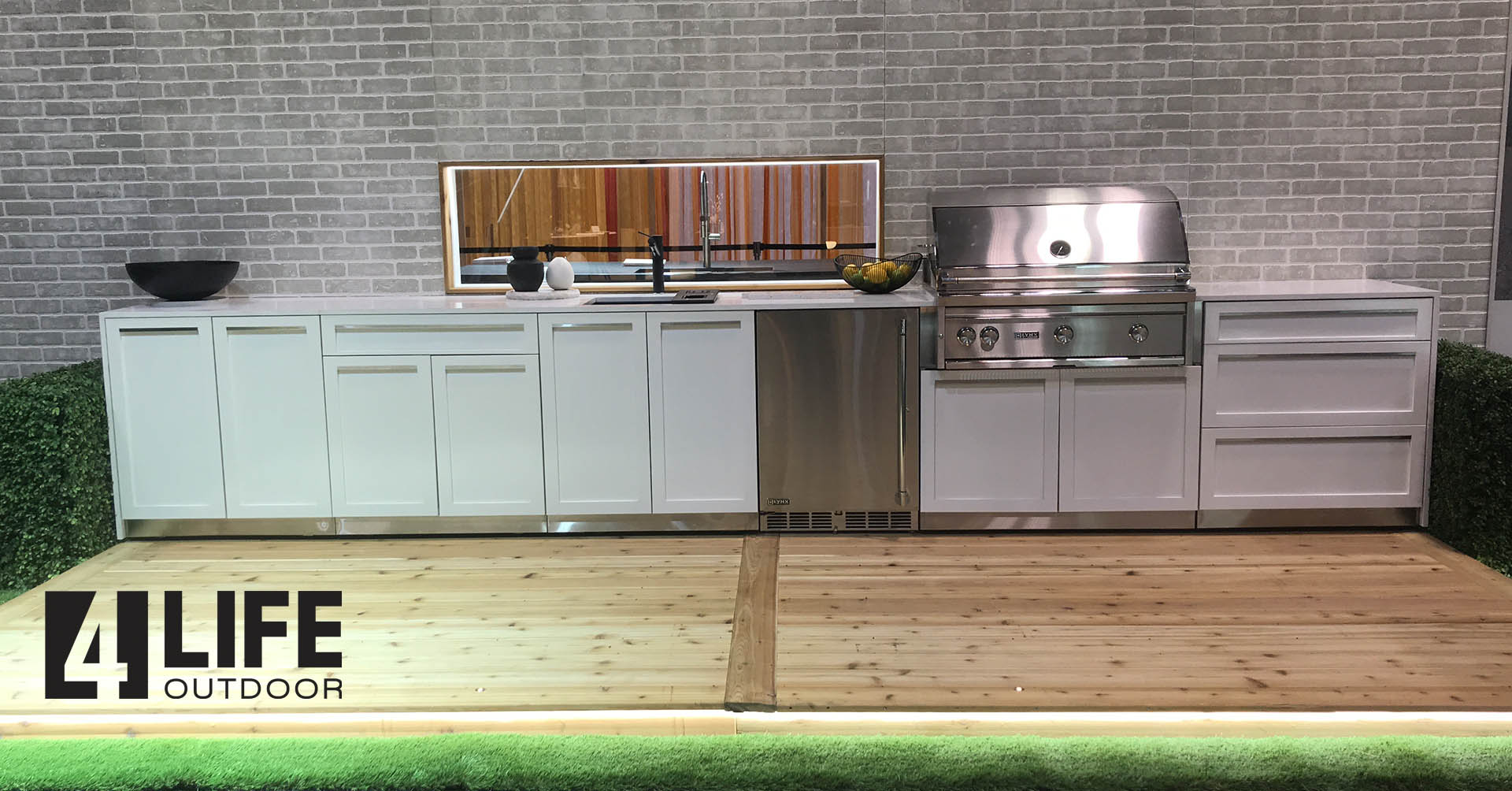 White Stainless Steel Outdoor Kitchen Cabinets 6