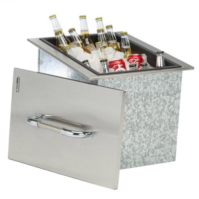 Stainless Steel Ice Bin Cooler/Wine Chiller in Outdoor Cabinets 7