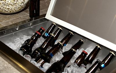 Stainless Steel Ice Bin Cooler/Wine Chiller in Outdoor Cabinets