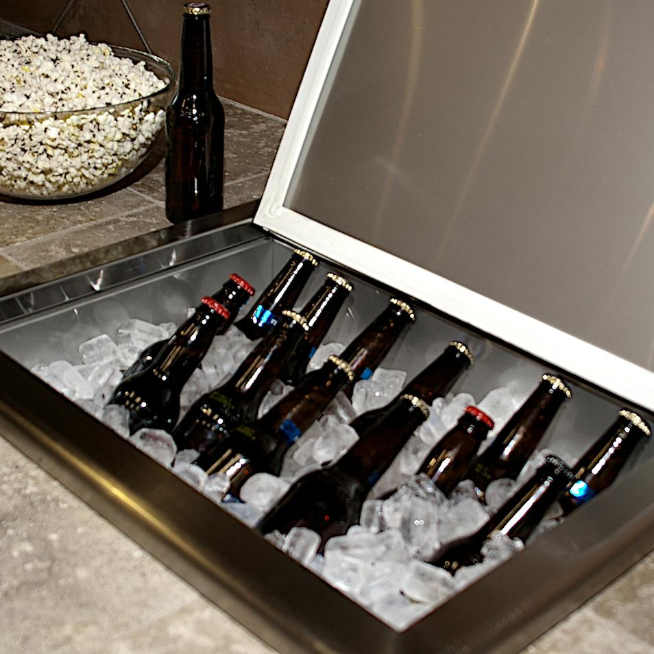 Stainless Steel Ice Bin Cooler/Wine Chiller in Outdoor Cabinets 1