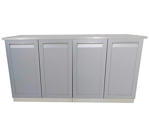 Gray 3 PC 2-door cabinets + stainless steel countertop 6
